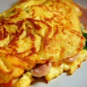 ham and cheese ham souffléd omelette baked ham and cheese omelet ...